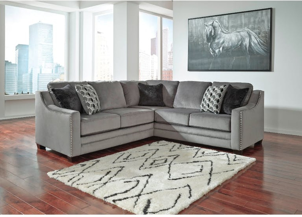 Brilliant Ashley Living Room Bicknell Charcoal Sectional W Laf Pdpeps Interior Chair Design Pdpepsorg