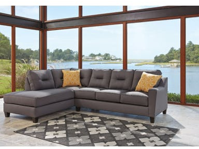 Awesome Ashley Living Room Kirwin Nuvella Grey Sectional W Laf Home Interior And Landscaping Palasignezvosmurscom
