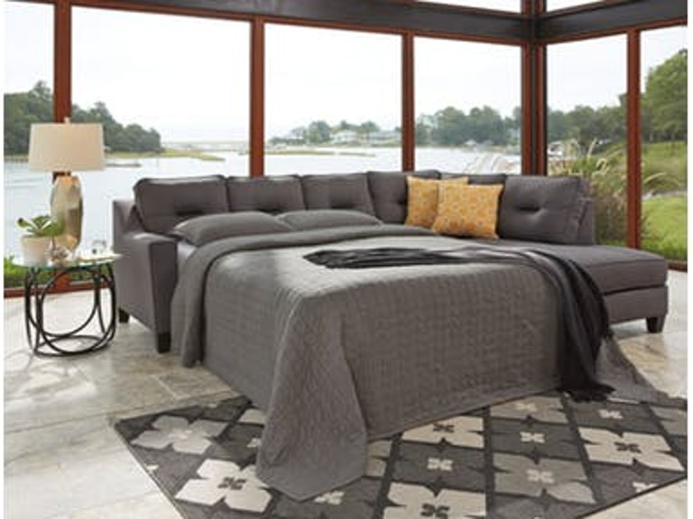 Excellent Ashley Living Room Kirwin Nuvella Grey Sleeper W Raf Corner Home Interior And Landscaping Palasignezvosmurscom