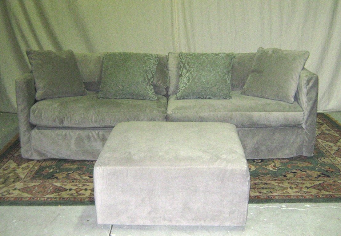 Rowe Dolly 100 2 Cushion Slip Sofa Warehouse Clearance, As Is. Item Is