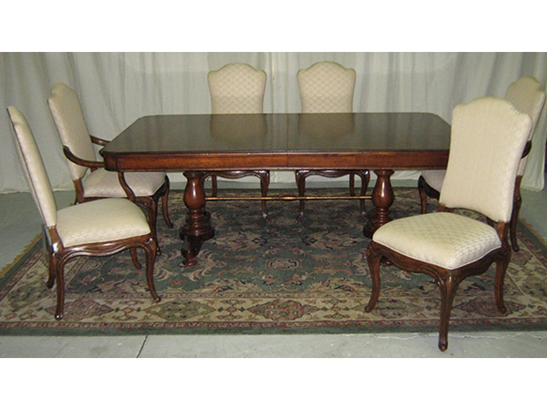 Stanley Furniture Dining Room Famille Pedestal Table And Chairs Warehouse Clearance As Is 2221KIT