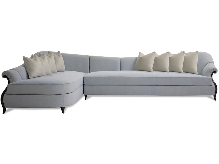 Christopher Guy Living Room Virage Sectional Sofa (141) 60 ...