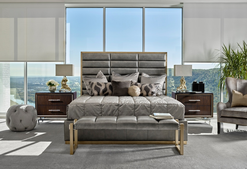 Marge Carson Bedroom Palo Alto Contemporary Bed Pal11 1