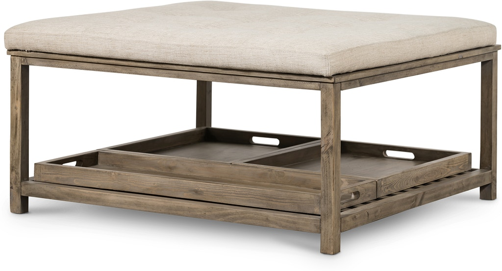 Four Hands Kitchen Wallace Upholstered Square Coffee Table Vbtn