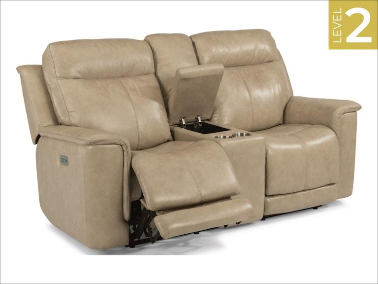 Pleasant Flexsteel Power Reclining Loveseat W Console And Power Inzonedesignstudio Interior Chair Design Inzonedesignstudiocom