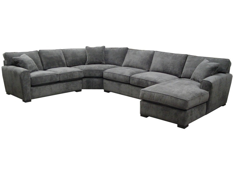 Jonathan louis living room fabric sectional 413 matter - Living room furniture fort myers fl ...