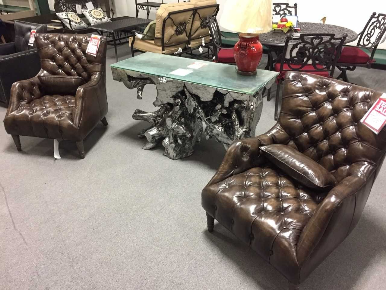 Back room tufted leather chair by hooker furniture 25 at maynards home furnishings