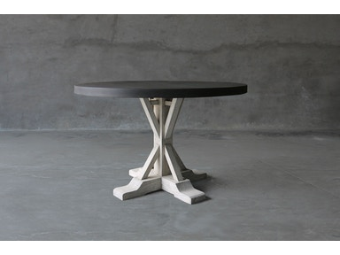 Clubcu 48 ROUND CONCRETE AND RECLAIMED ELM TABLE