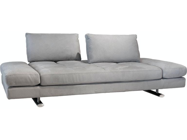 Kuka Home 1372 Sofa One Headrest Light Gray Fabric