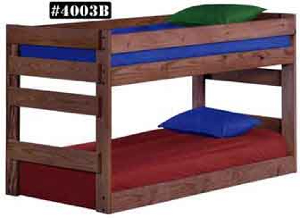 4003bxl Twin Twin Jr Bunk Bed W Queen Rails American Oak And More Furniture Store