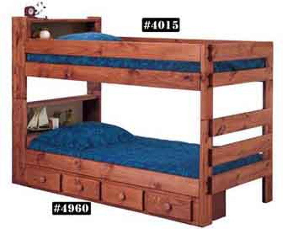4015xl Twin Twin Bunk Bed W Queen Rails American Oak And More Furniture Store Montgomery