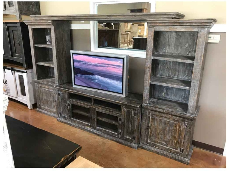 Million Dollar Rustic Living Room 04 2 135 115 Barnwood Entertainment Wall At American Oak And More