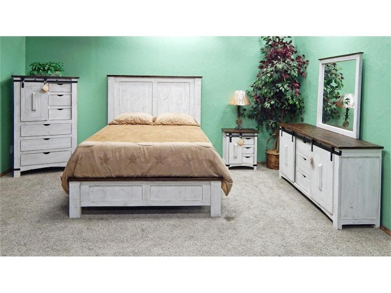 Cool 02 2 10315W 110 50 Set White Coffee Barn Door Bedroom Group Download Free Architecture Designs Rallybritishbridgeorg