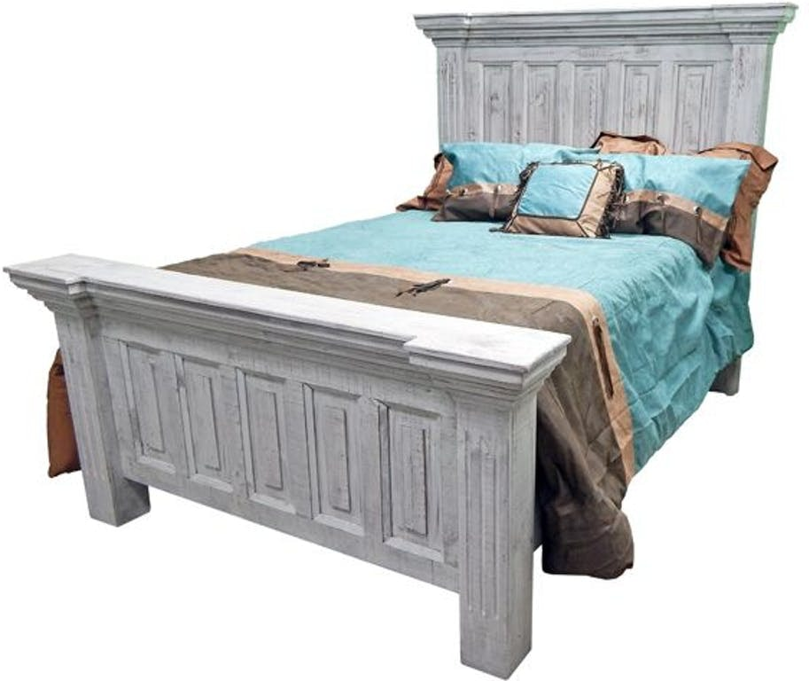 good Million Dollar Rustic Bed Part - 6: Million Dollar Rustic COLISEO KING BED - WHITE 02-2-15-150-
