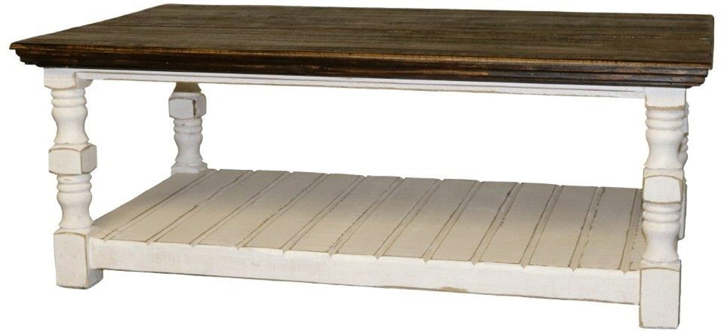 06 2 10315w 27 Ckt Weathered White Cottage Cocktail Table