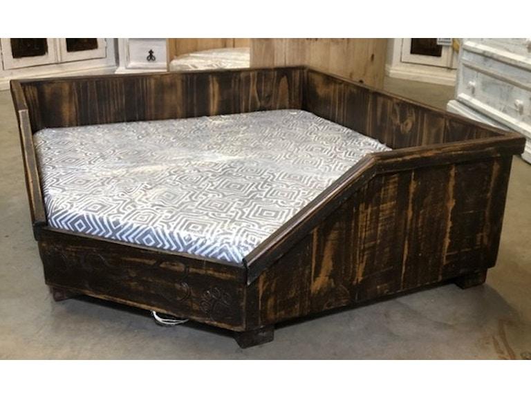 Rustic Medium Wax Corner Dog Bed