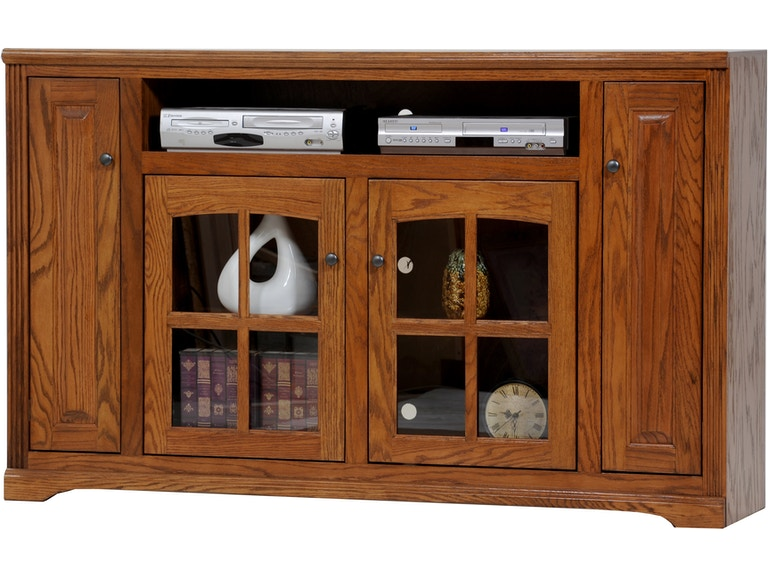 American Heartland Living Room Oak Tall Tv Stand 93863 At And More