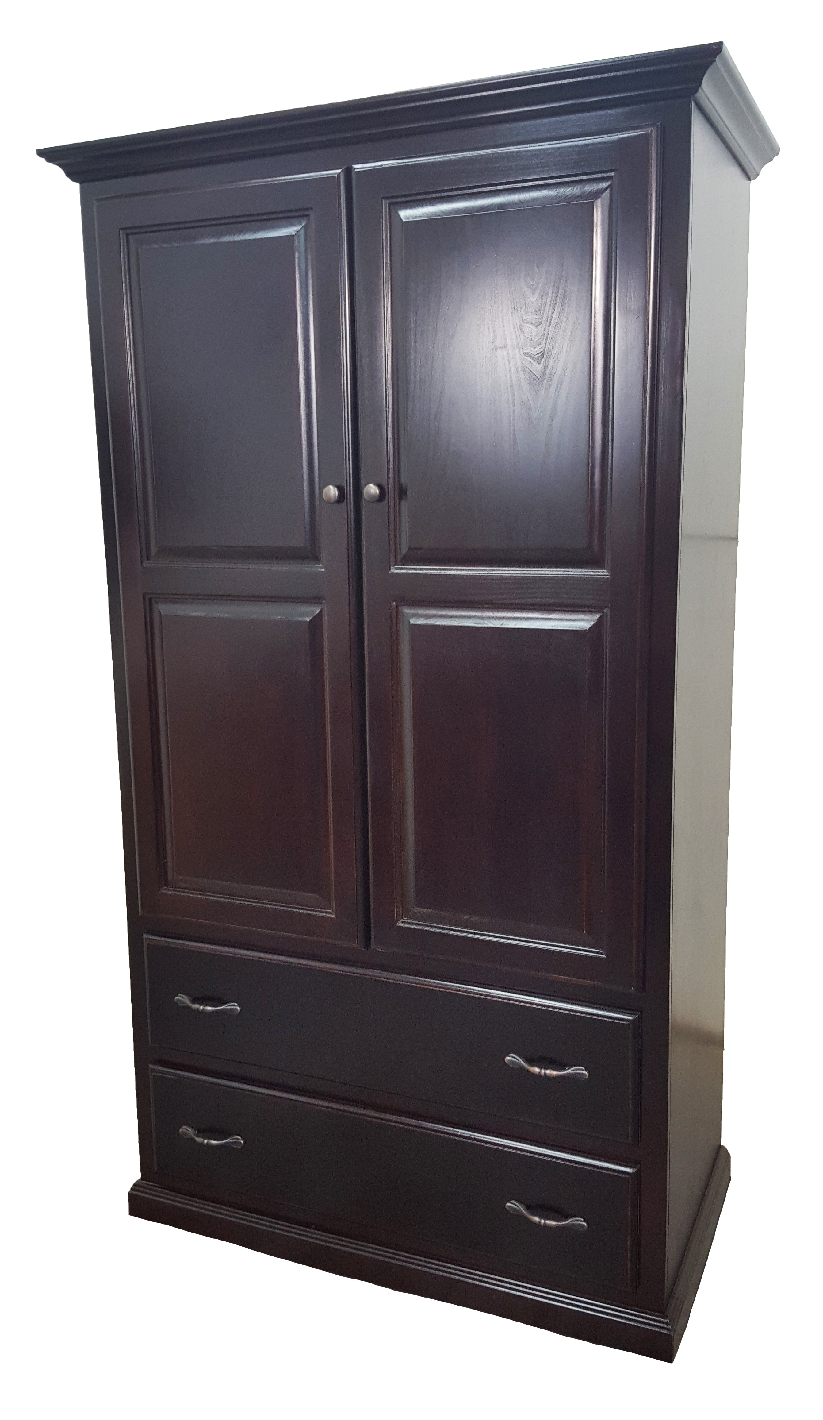American Heartland Poplar Double Door Armoire W/Drawers 95794