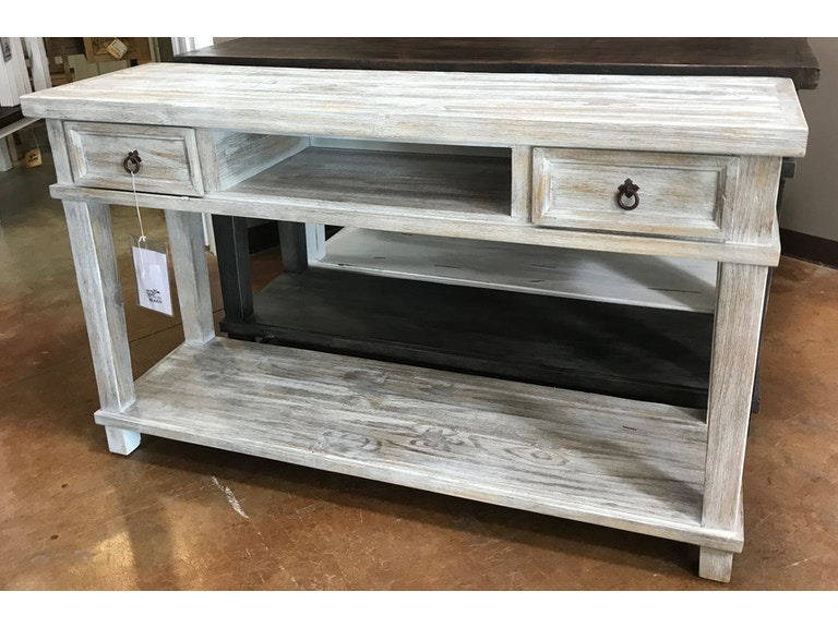Barn Wood Sofa Table Console With 2 Drawers And 1 Shelf