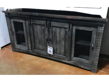Jm Com153g Gray Barn Door Tv Stand 72 Inch