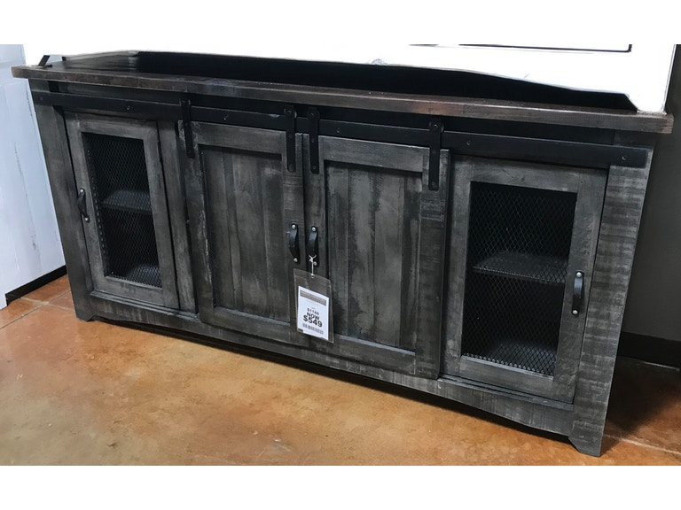 Mo Com153g Antique White 72 Inch Barn Door Tv Stand