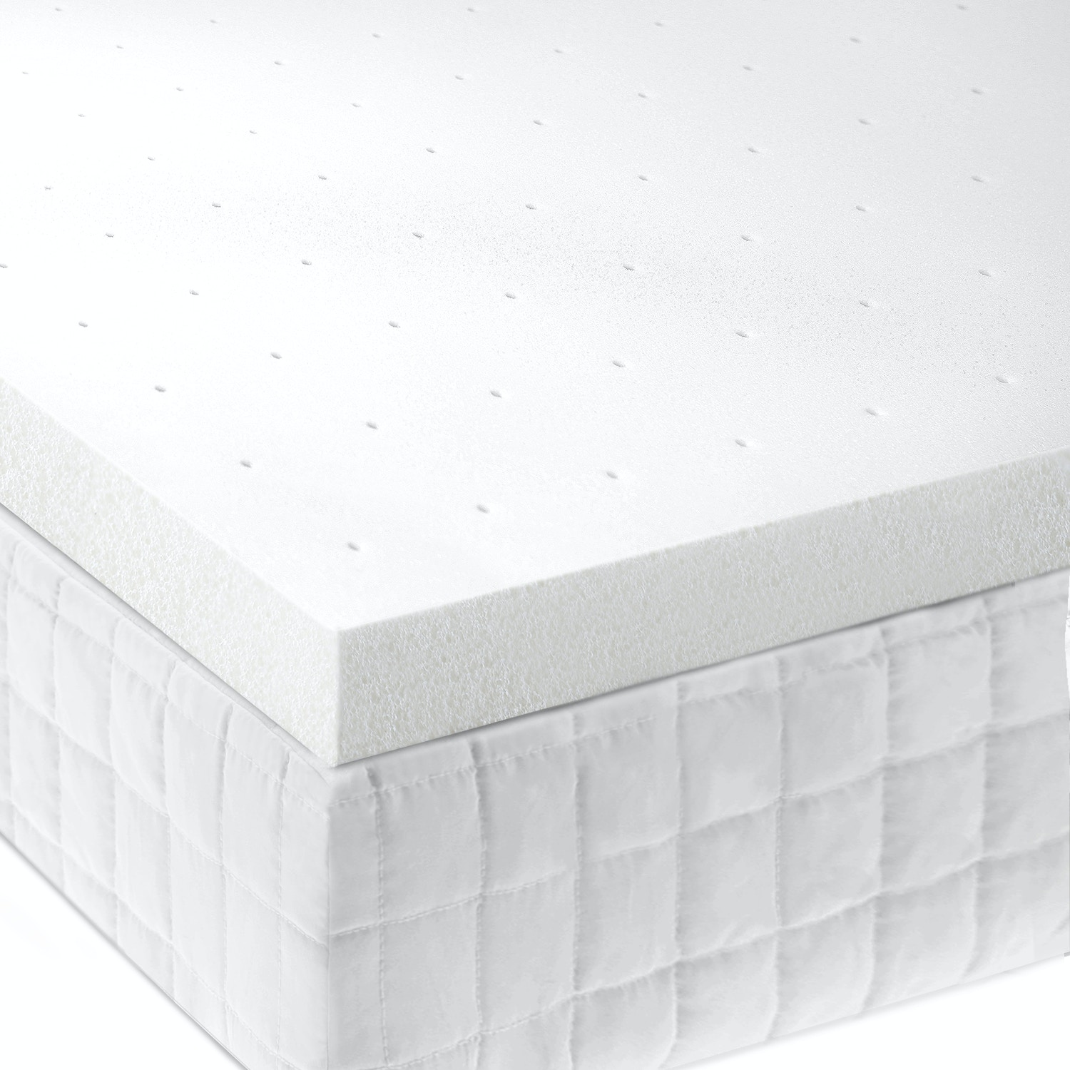 Malouf Living Room 2 Memory Foam Mattress Topper Twin Xl