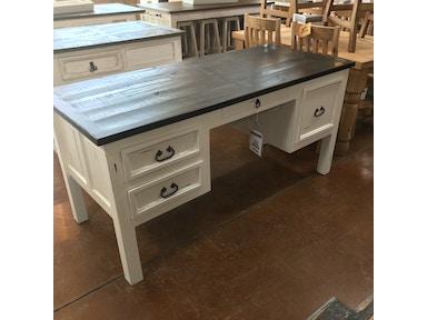 Mo Esc21 Rustic Antique White Desk Four Drawers