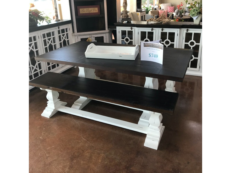Remarkable Rustic Antique White Table And 2 Benches Machost Co Dining Chair Design Ideas Machostcouk