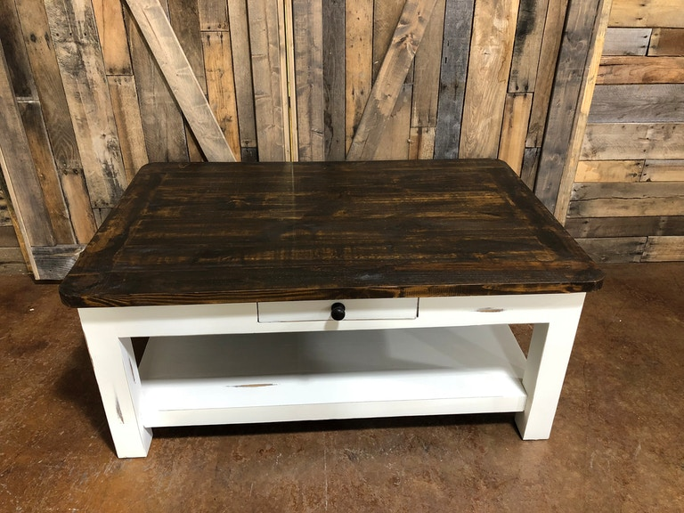 Antique Coffee Table.Antique White Coffee Table
