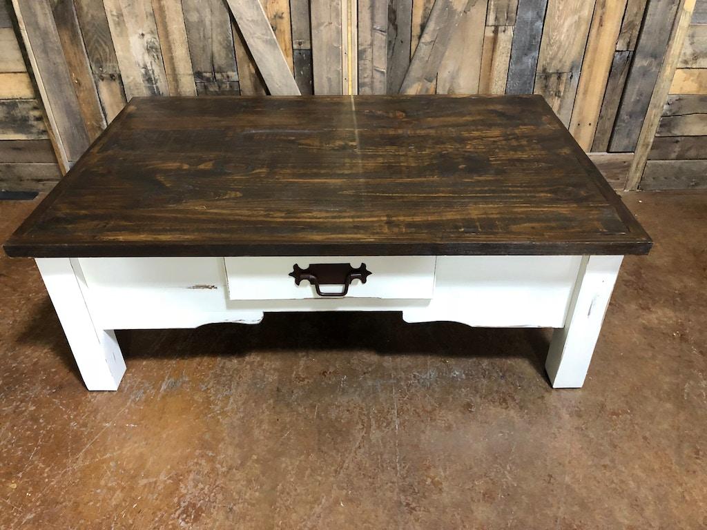 Mo Cen49 Antique White Coffee Table