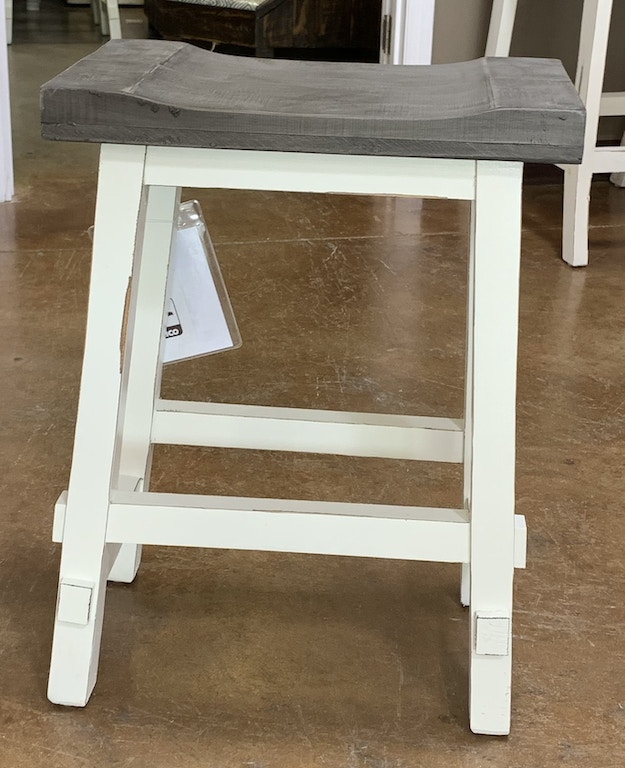 Surprising Counter Stool Antique White With Gray Top Pdpeps Interior Chair Design Pdpepsorg