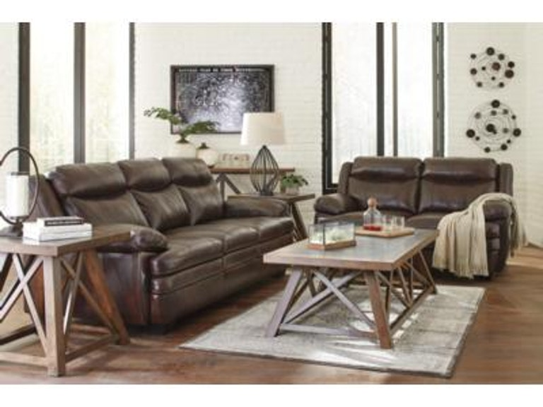 Signature Design by Ashley 2PC Leather Sofa/ Loveseat Set 15304-35 ...