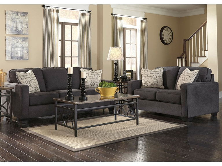 Signature Design By Ashley Alenya Charcoal Sofa Love Set 1660135 38