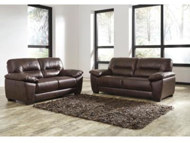 Signature Design by Ashley Living Room 2PC Leather Sofa/Loveseat Set ...