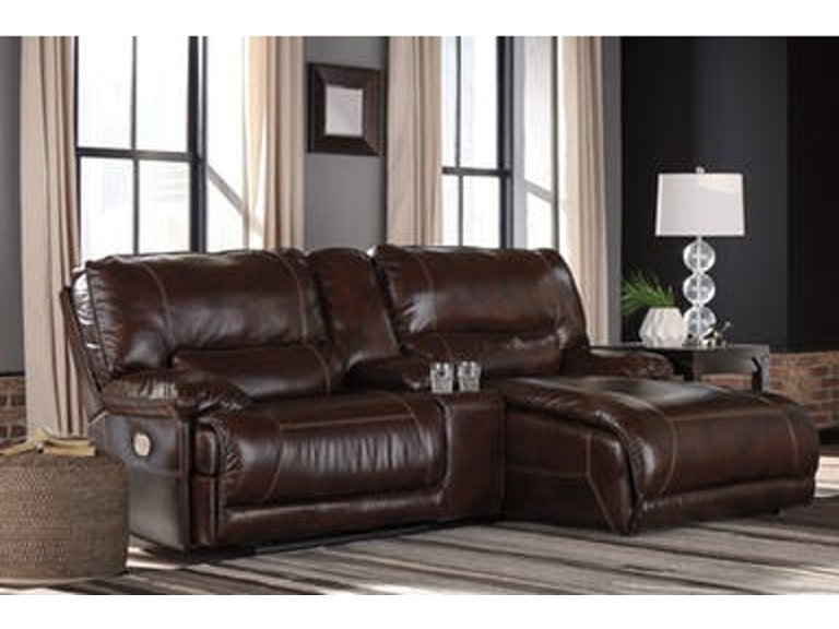 3pc Leather Power Reclining Sectional