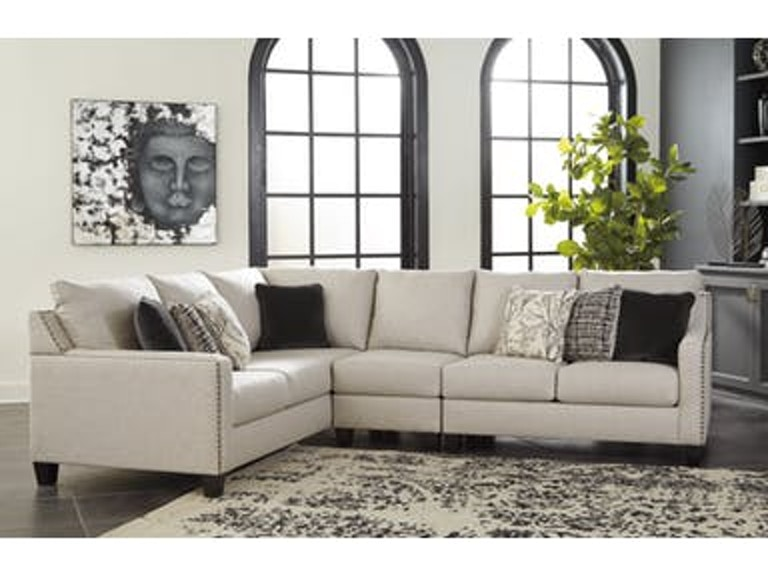Signature Design By Ashley Living Room 3pc Sectional Customizable