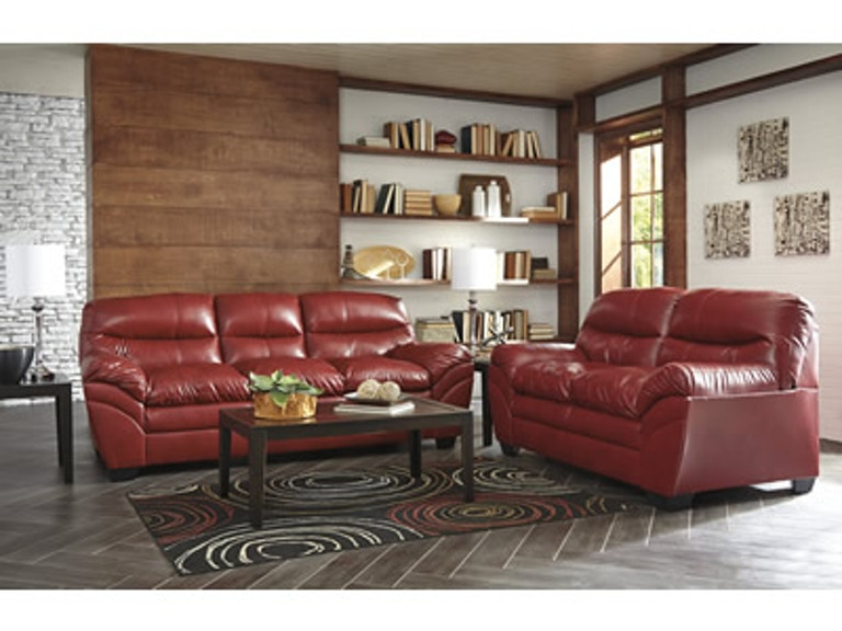 Signature Design By Ashley Tler 2pc Red Sofa Loveseat Set 46500 35 38