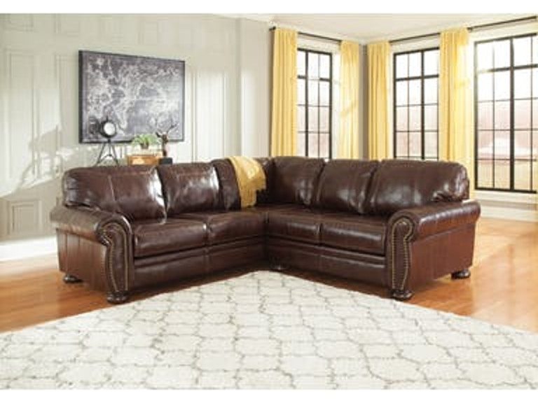 Signature Design By Ashley Living Room 2pc Leather Sectional