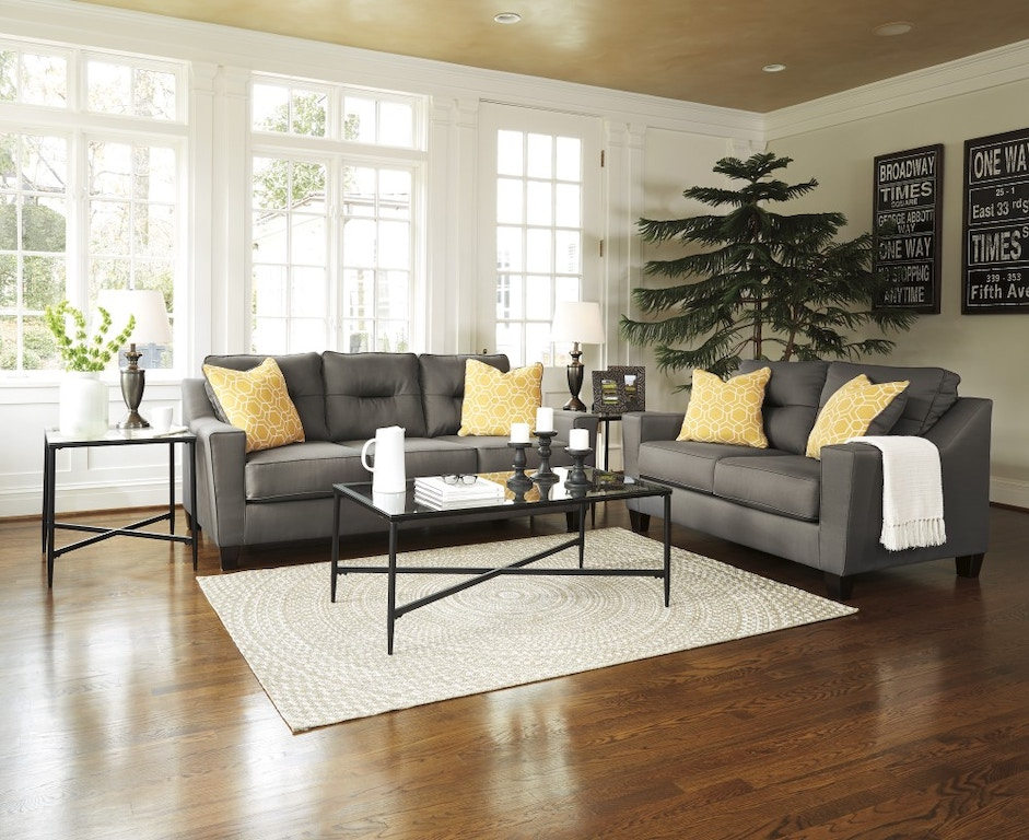Signature Design By Ashley Forsan Nuvella Gray 2pc Sofa