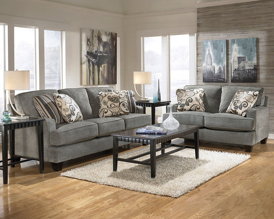 Ashley Yvette Steel Sofa Reviews Baci Living Room