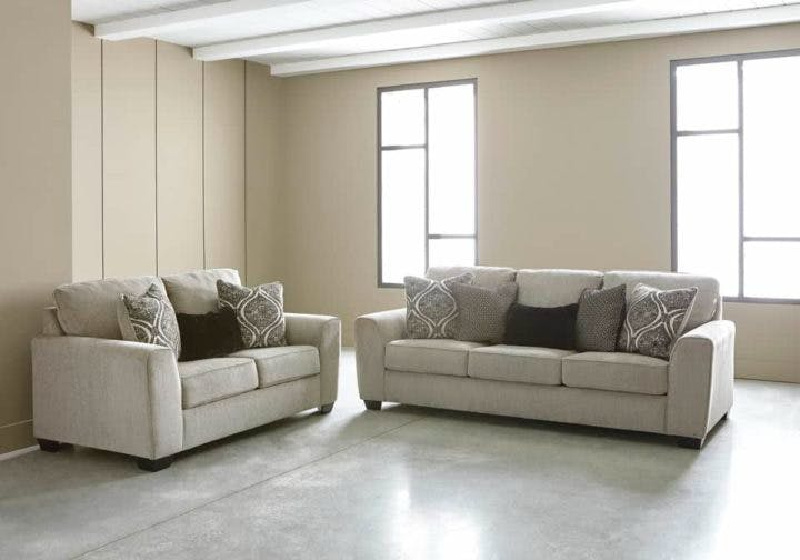 Picture of: Signature Design By Ashley Living Room Parlston 2pc Sofa Loveseat Set 78902 35 38 Capital