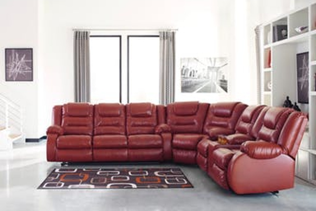 Signature Design by Ashley Living Room 3PC Red Reclining ...
