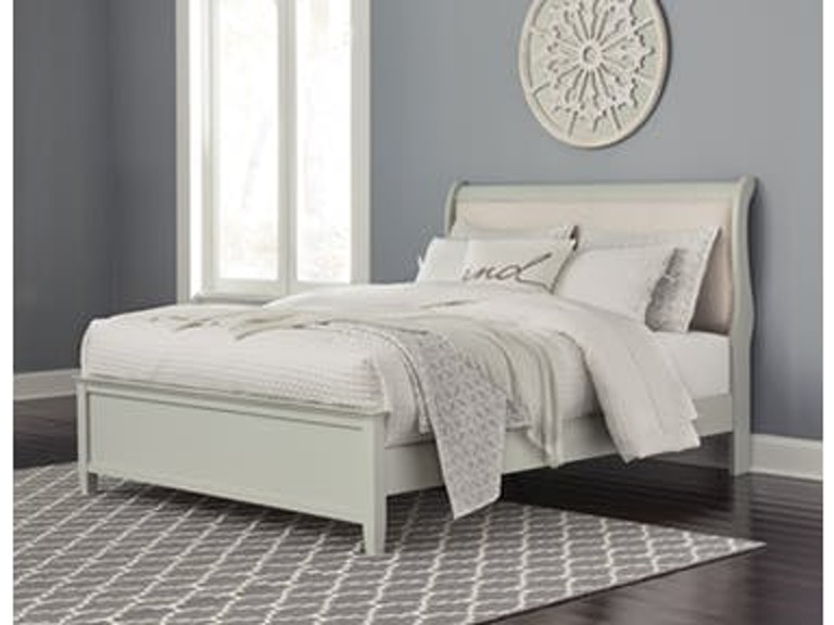 Signature Design By Ashley Bedroom Queen Uph Sleigh Bed B378 8196