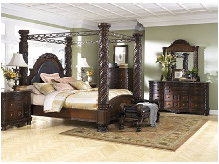 bc7a21657590 Signature Design by Ashley King Poster Canopy Bedroom Group B553-131 36 172
