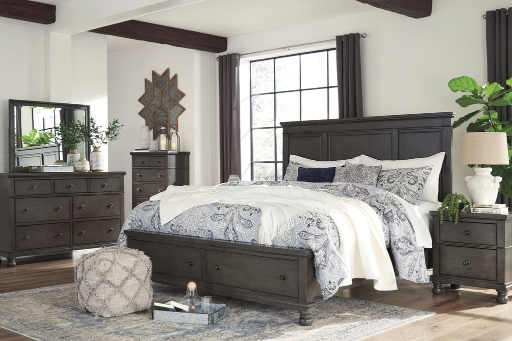 Astonishing Signature Design By Ashley Bedroom King Storage Bed Group Bralicious Painted Fabric Chair Ideas Braliciousco