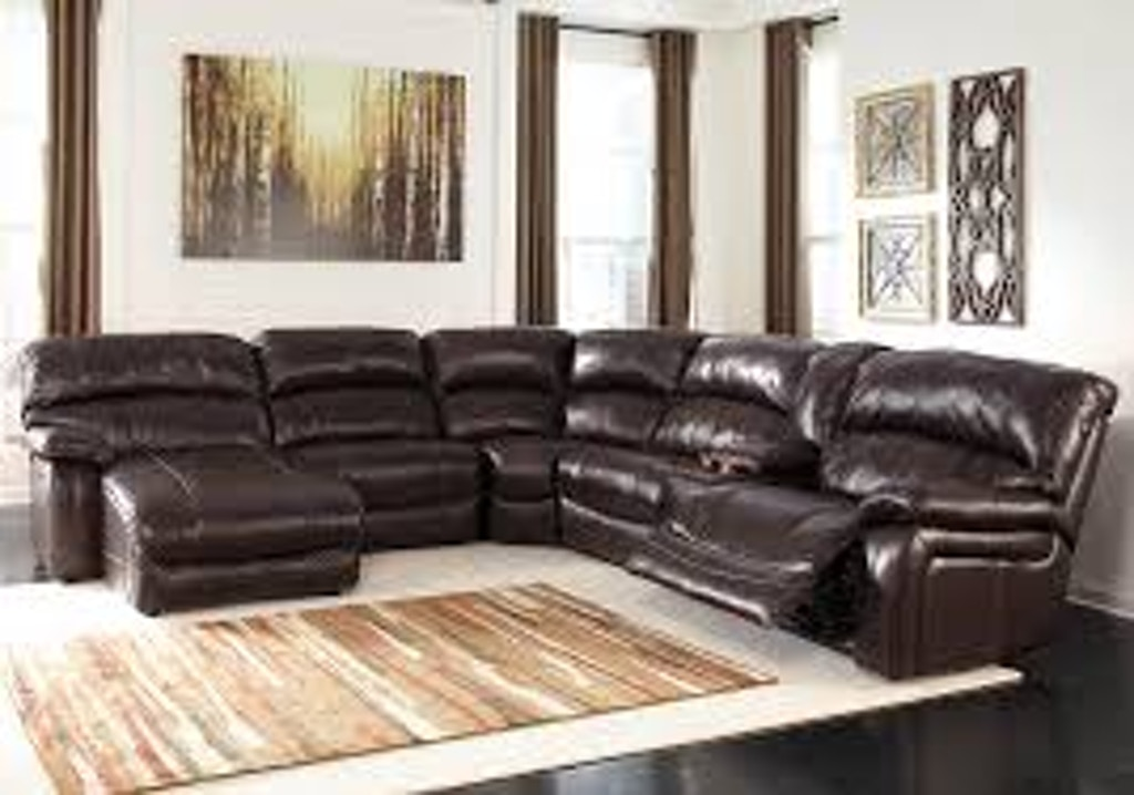 Signature Design By Ashley Living Room 6pc Lf Leather Power