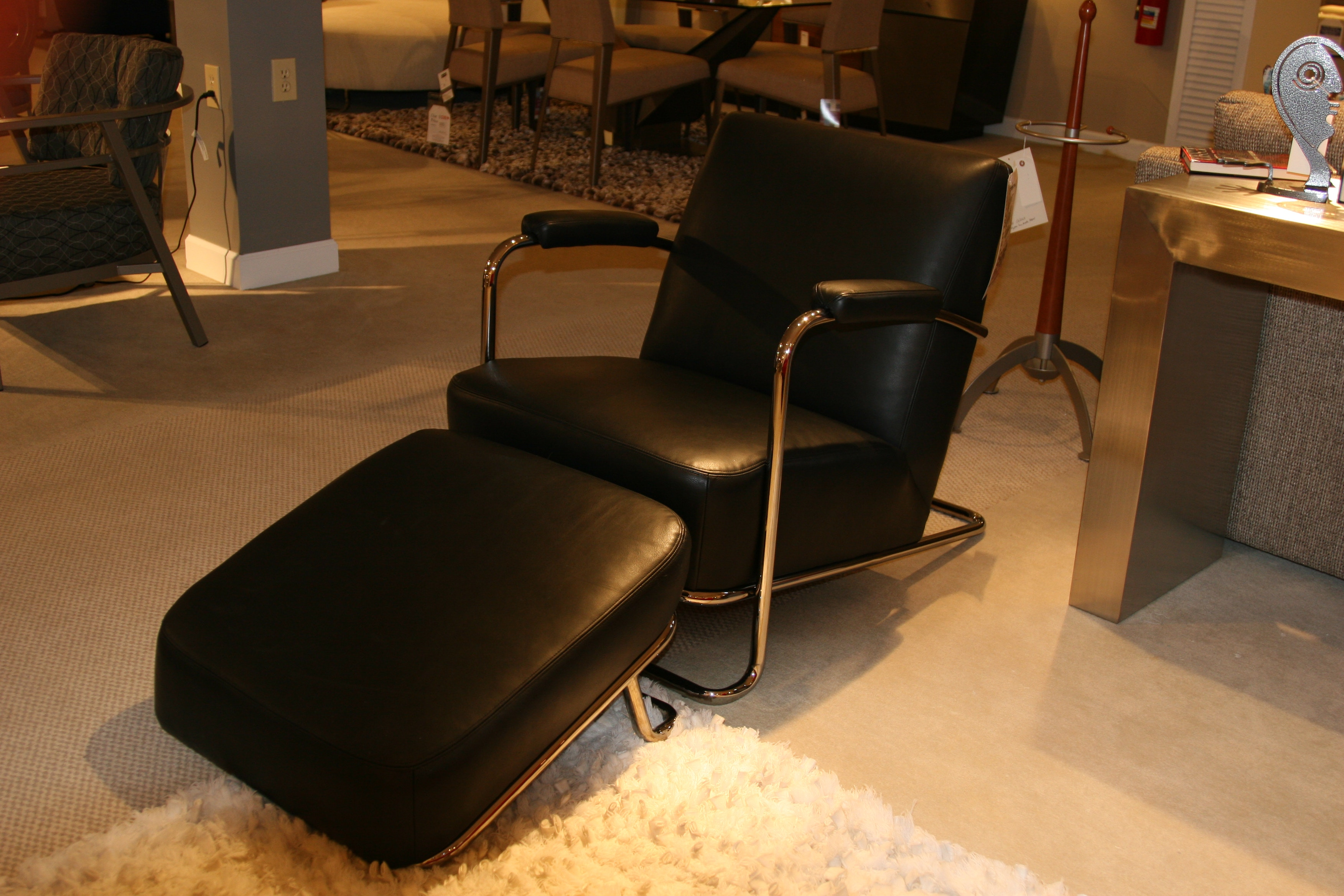 Reflections Furniture Outlet Modern Leather Chair And Ottoman By  Reflections 1088 C!