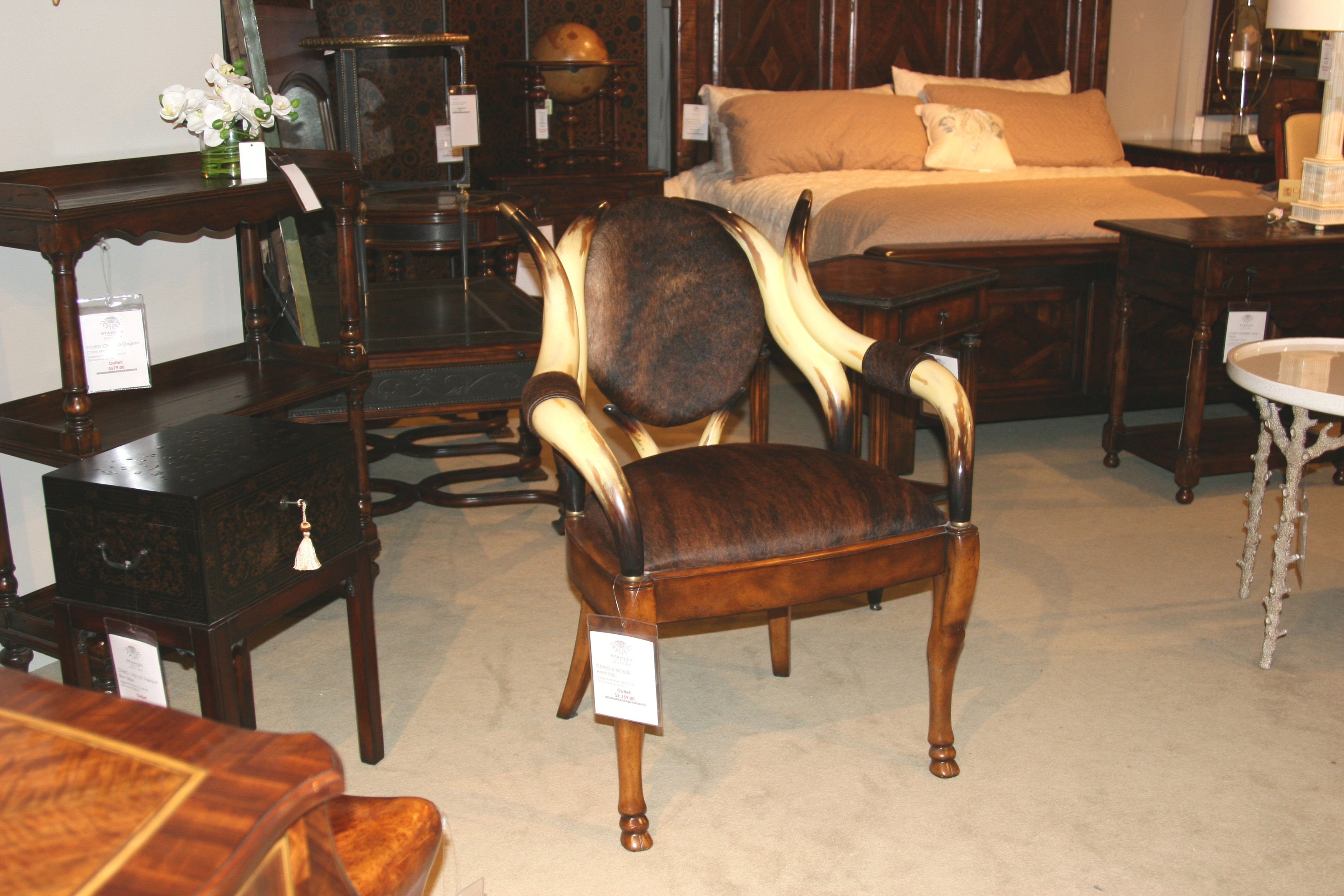 Theodore Alexander Furniture Outlet By Goodu0027s The Longhorn Arm Chair  4100 630 Outlet