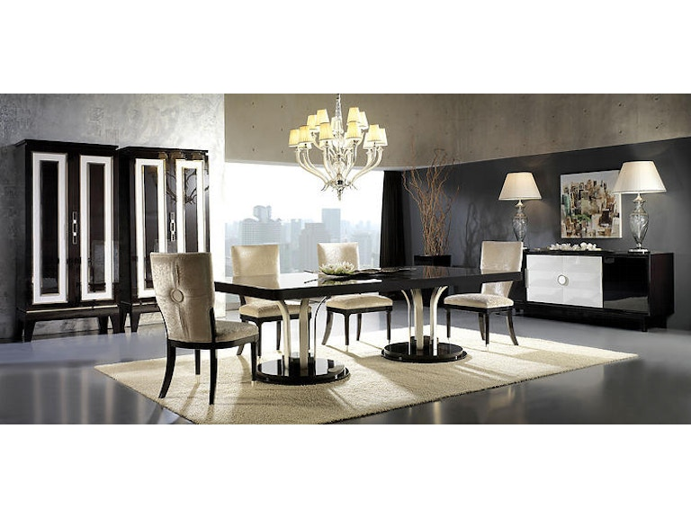 David Michael Furniture Dining Room Dining Table and Armoire ...