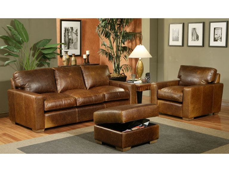 Leather and More Living Room American Classic Sofa Made In ...